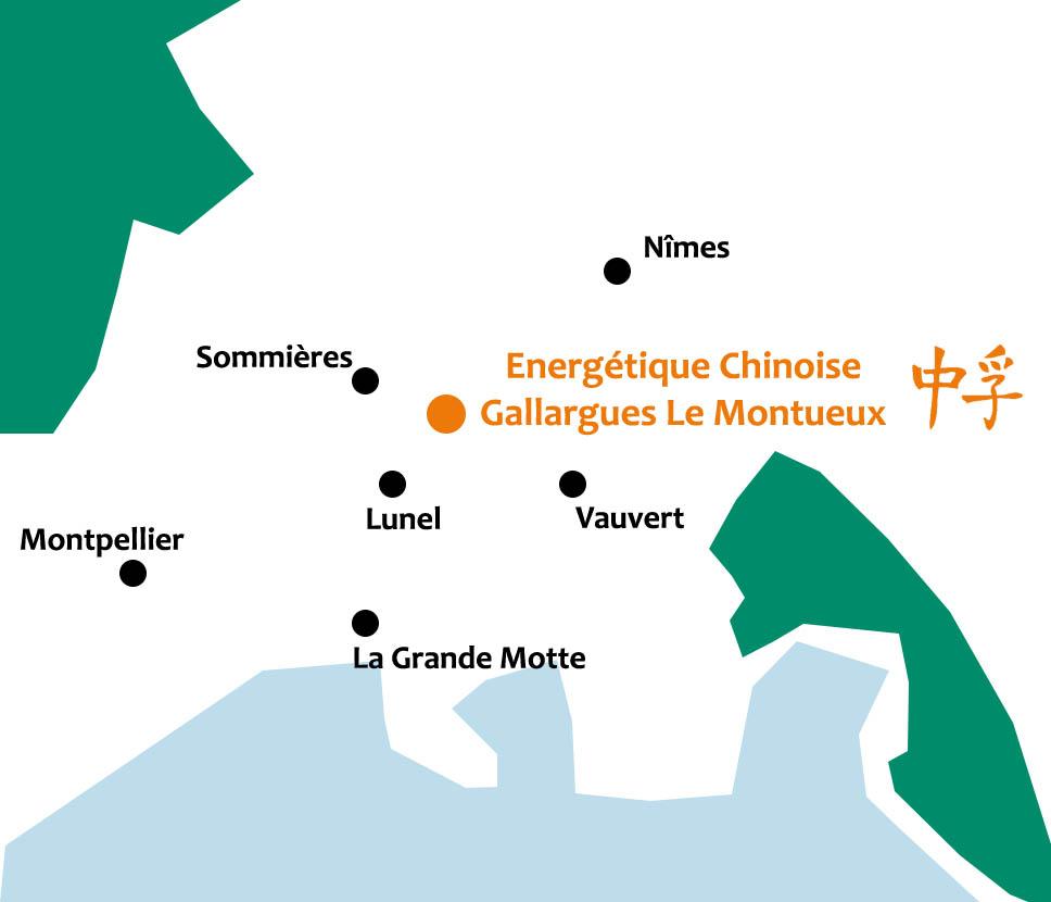 Cabinet d'énergétique chinoise à proximité de Nîmes, Montpellier et Lunel